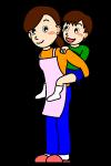 ママのイラスト|イラスト素材 ... : 子供 絵本 無料 : 子供