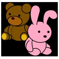 赤ちゃんや乳幼児が遊びに使うおもちゃ玩具のイラスト