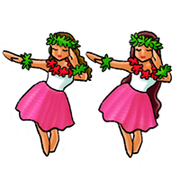 ハワイのイラストハワイの名物や観光地のイラスト