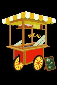 屋台やお祭り出店に関するイラスト素材